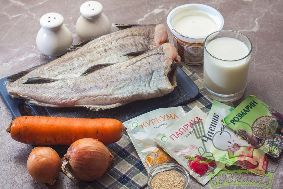 для приготування минтая в мультіварці з овочами и сметаною мені необхідні такий набір продуктів